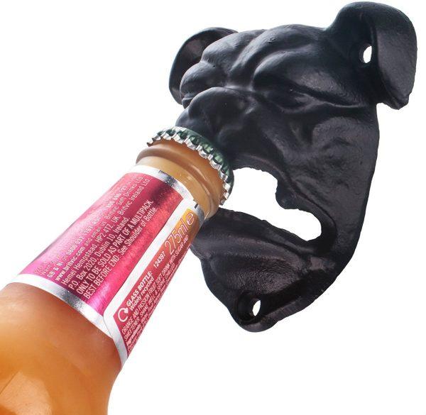 Bulldog wandgemonteerde flesopener - gietijzer