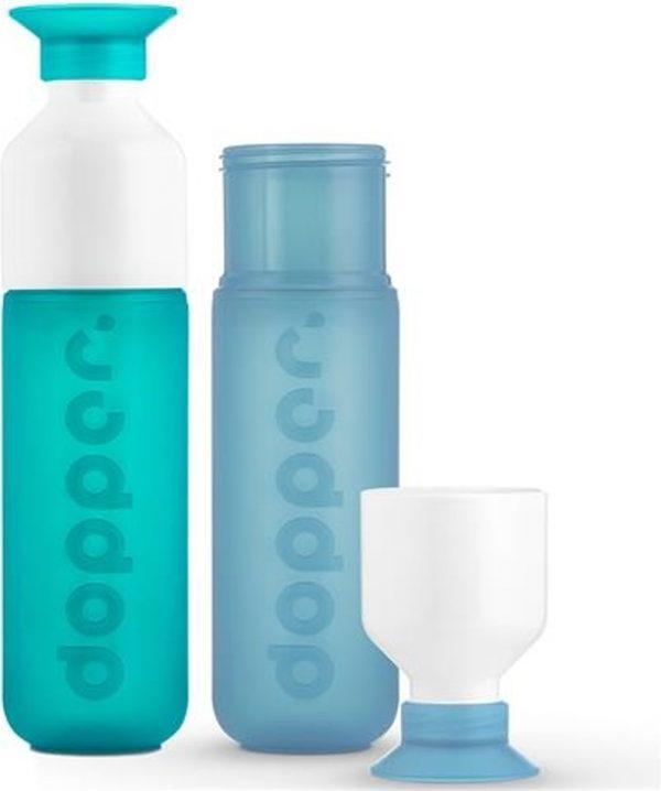 Dopper - duo set 2 kleuren - SeaGreen en Lagoon