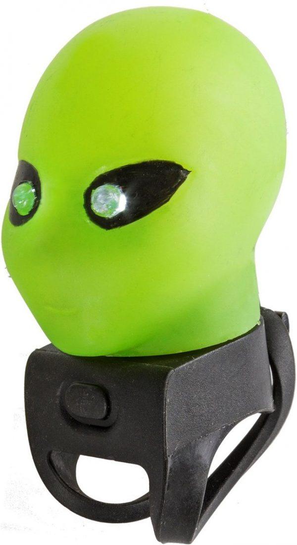 M-wave Fietstoeter Alien Met Led Licht Groen