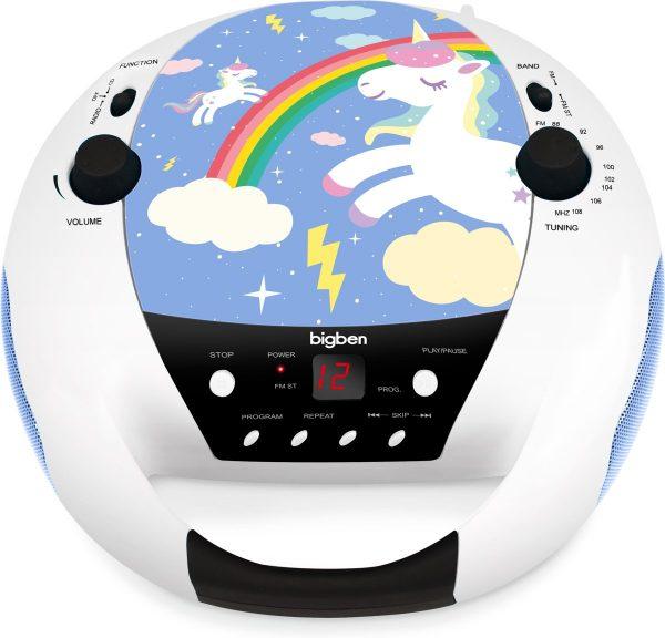 Bigben Draagbare CD-Speler met Microfoon - Eenhoorn/Unicorn - Blauw