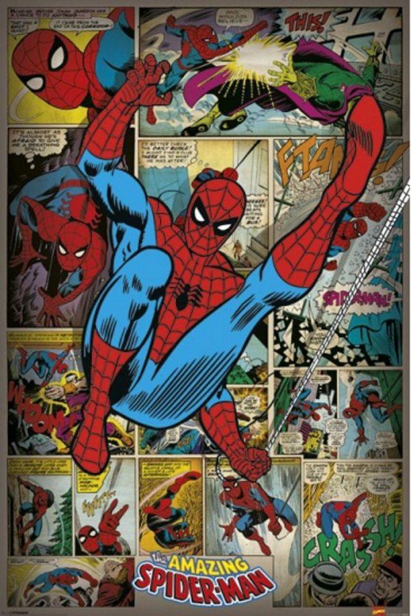 Spiderman retro poster 61 x 91,5 cm