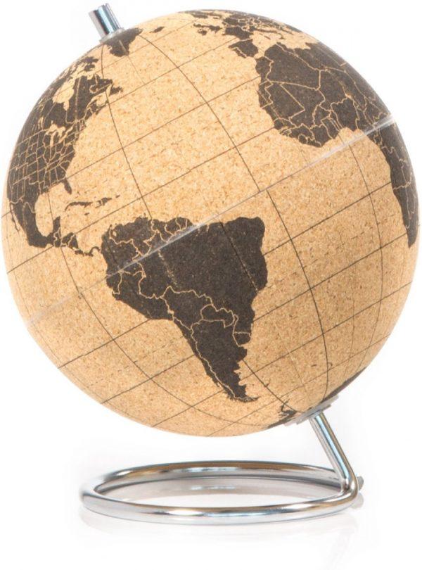 Wereldbol van kurk - Small Cork Globe 14cm - SuckUK