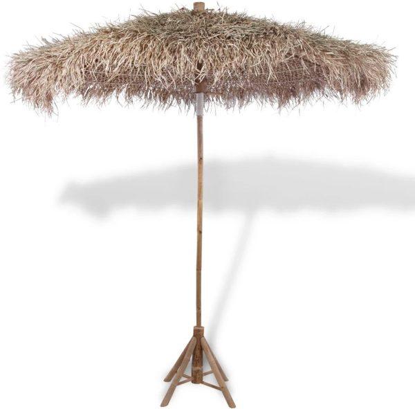 vidaXL Parasol bamboe met dak van bananenbladeren 270 cm