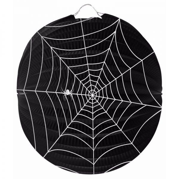 Bol lampion spinnenweb 22 cm halloween versiering