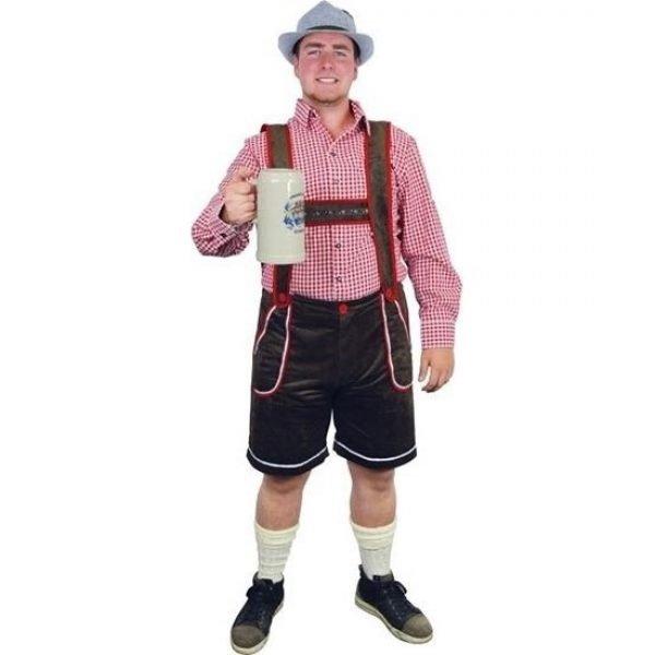 Bruine bierfeest/oktoberfest broek verkleedkleding voor heren XXL (EU 56) Bruin
