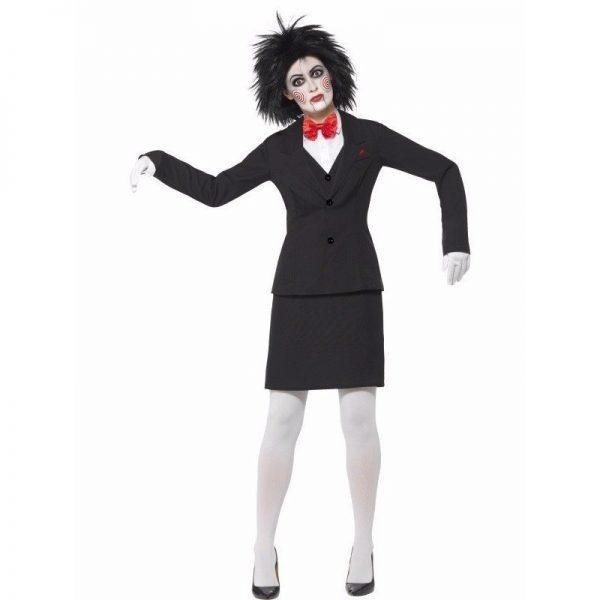 Halloween verkleedkleding Saw Jigsaw voor dames