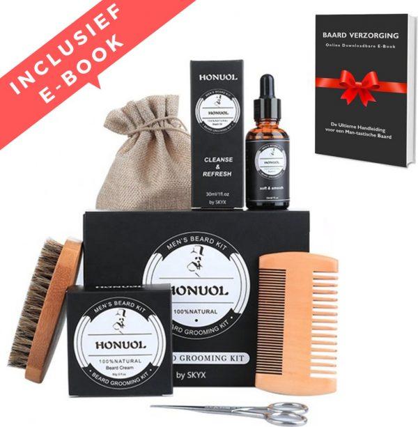 SKYX Beard Grooming Kit - Baard Verzorging Set voor mannen