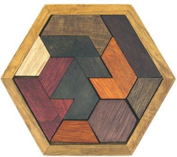 GadgetBay Houten Hexagon Puzzel - Denkpuzzel - Moeilijk spelletje en leuk als cadeau