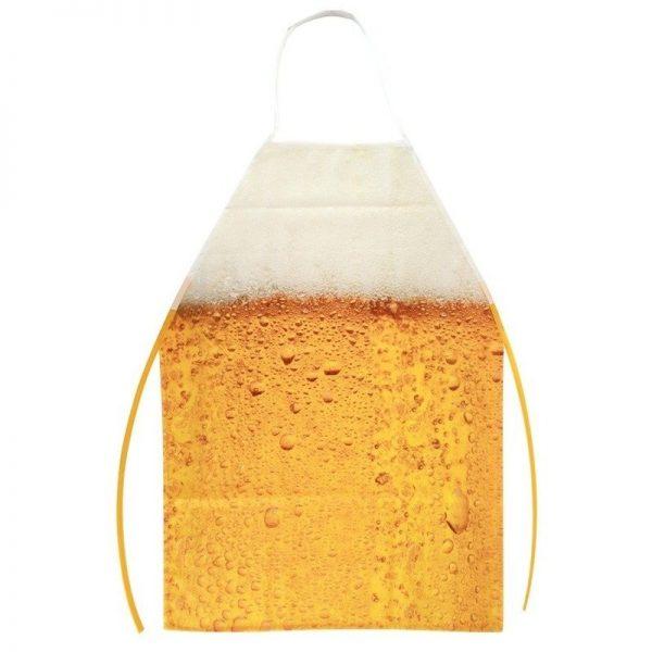 Oktoberfest schort met bier patroon