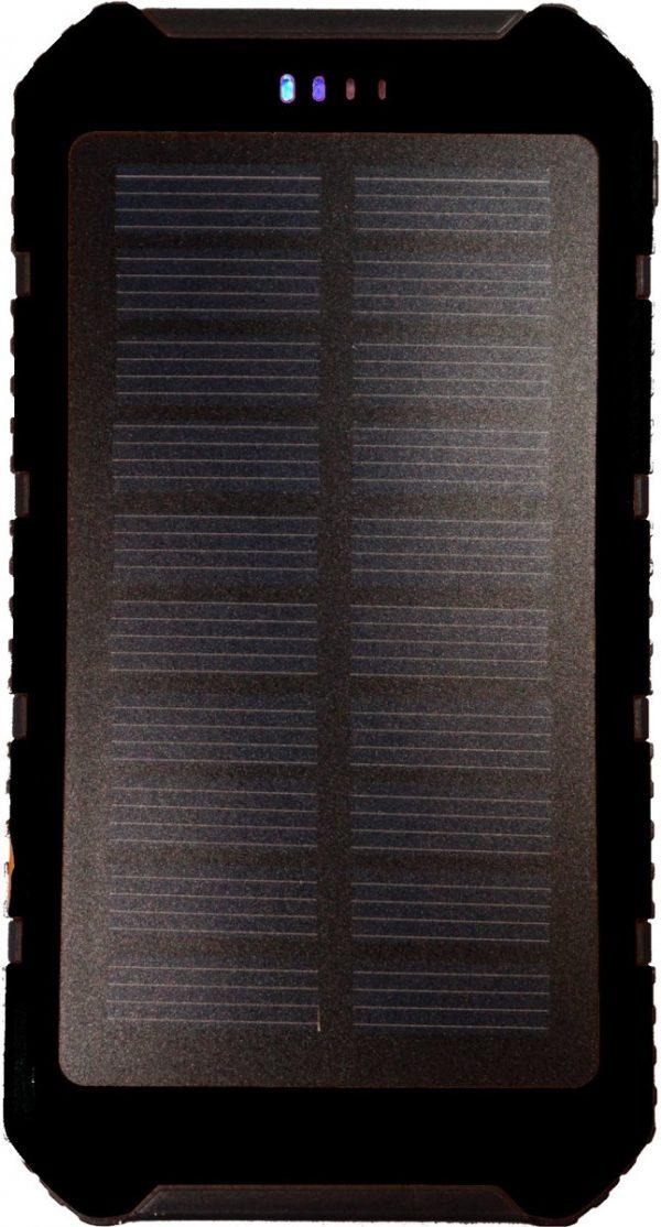 20.000 mAh Solar - Zonne-energie - Powerbank Zwart
