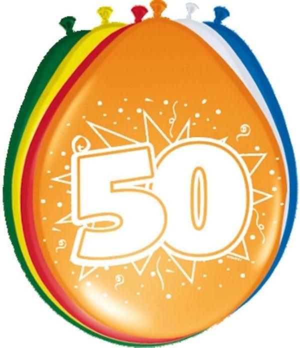 32x stuks Ballonnen versiering 50 jaar thema feestartikelen en leeftijd versiering - formaat 30 cm