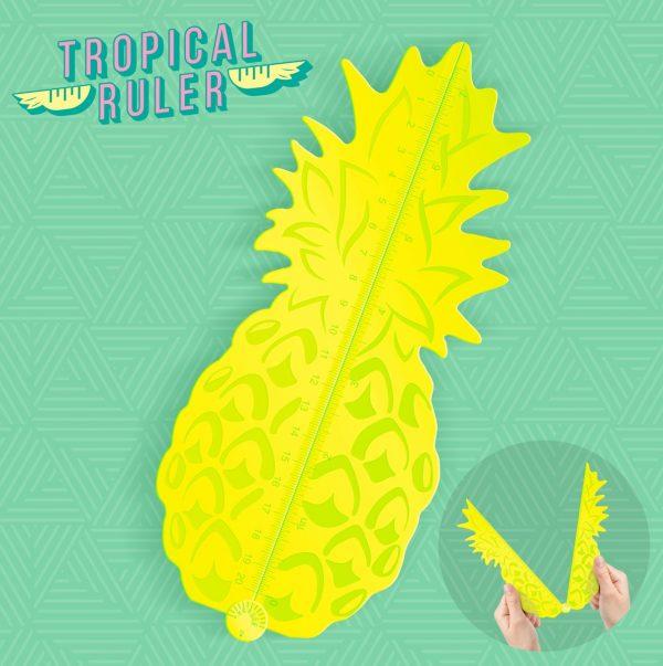 Mustard Desktop Geo Driehoek Tropical - Uitklapbaar - Geel