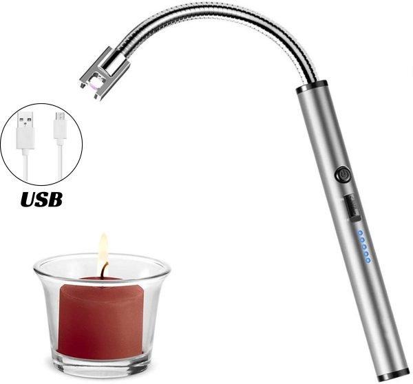 Arc Flexibele keuken aansteker - BBQ aansteker - Zilver
