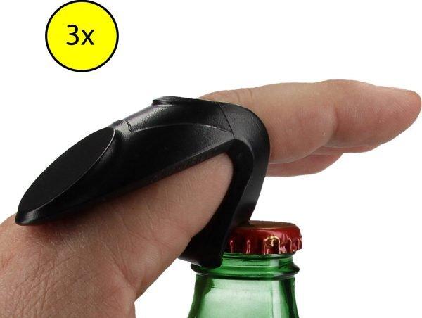 Bieropener voor de Vinger 2 + 1 Gratis - 7x3x4cm | Bier Opener Ring | Biertje | Drank
