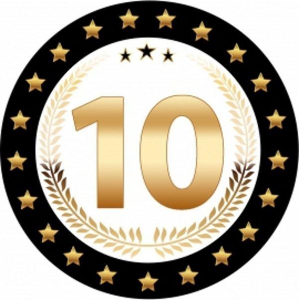 10 jaar versiering onderzetters/bierviltjes - 50 stuks - 10 jaar verjaardag feestartikelen