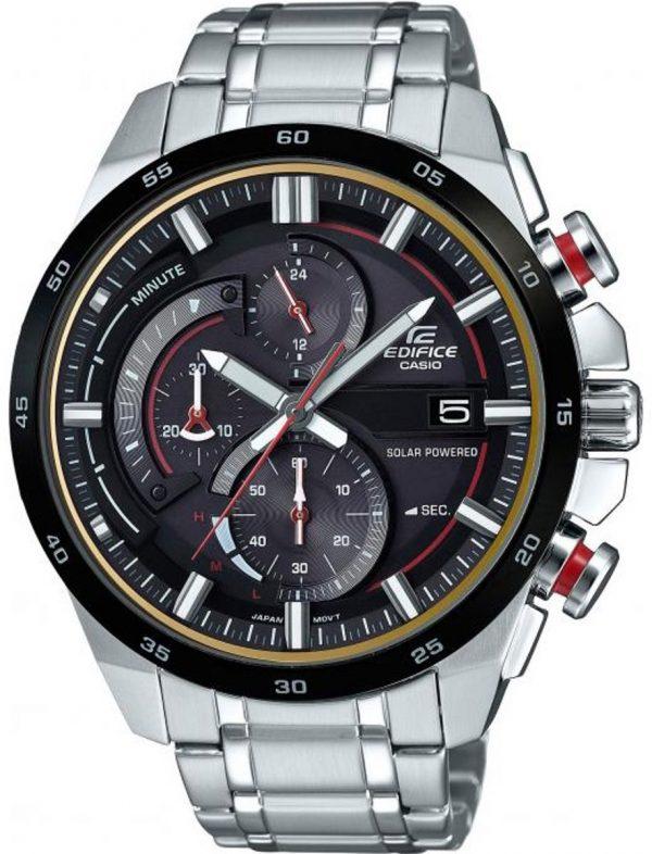 Casio EQS-600DB-1A4UEF horloge heren - zilver - edelstaal