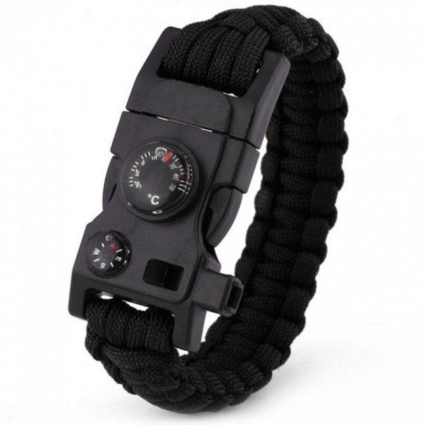 Survival Armband 20-in-1 functies Zwart