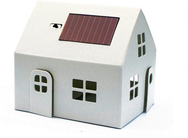 Casagami - Bouwpakket huisje wit op zonne-energie