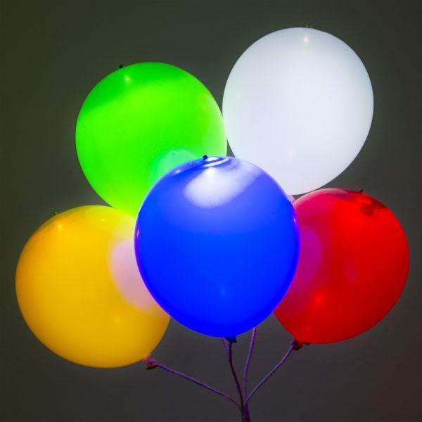 Ballonnen met LED-verlichting (set van 5)