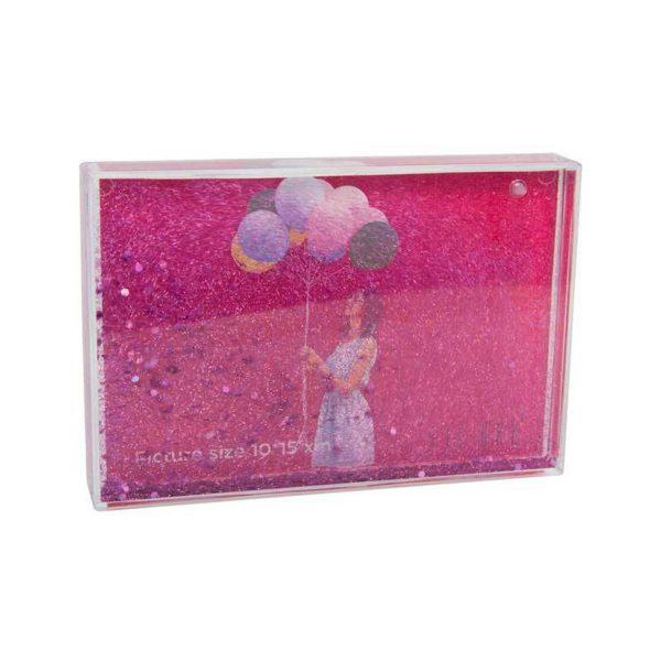 Fisura Fotolijst met glitters - Roze