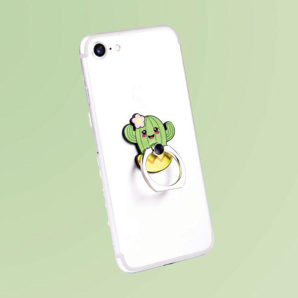 Fizz Kawaii smartphone ring - Cactus