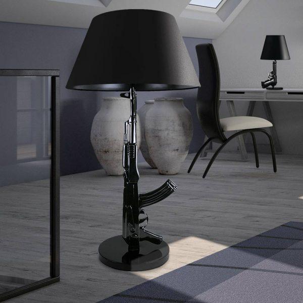 Gun Lamp Zwart - Pistool