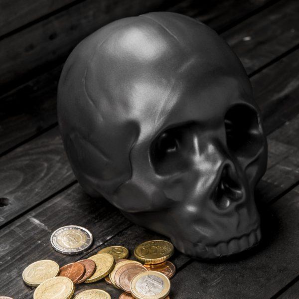 Kikkerland Skull spaarpot