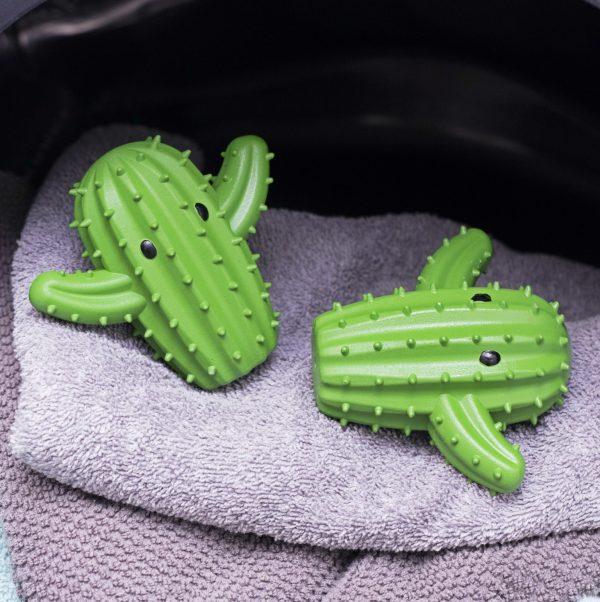 Kikkerland Wasdrogerballen (set van 2) - Cactus