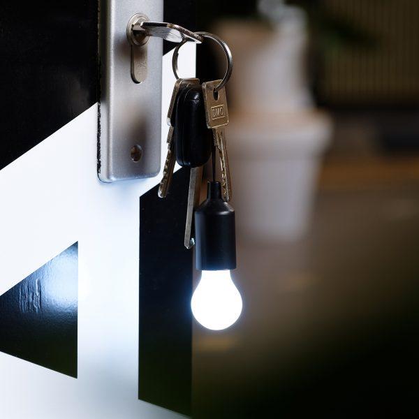 LOOOQS Pull lamp sleutelhanger - Zwart