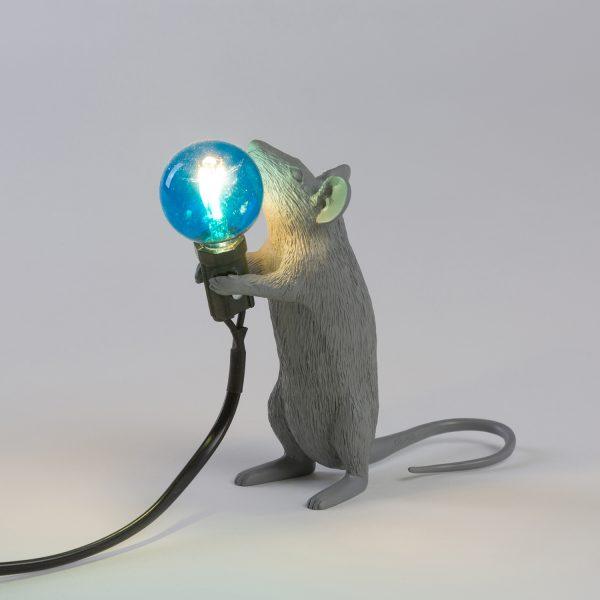 Seletti Mouse lamp - Grijs staand
