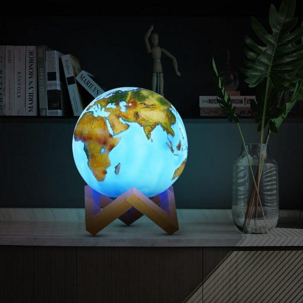Wereldbol Lamp - LED Touch Lamp