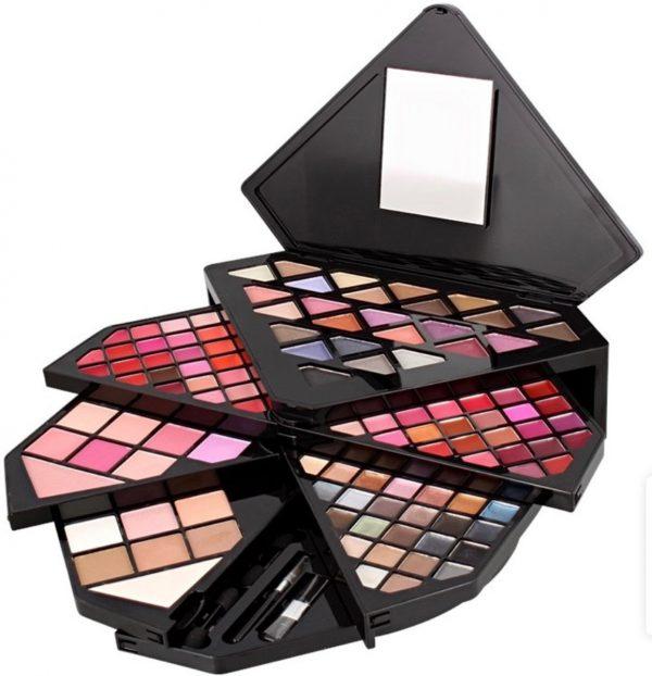 make up doos-Max&More Diamond Beauty giftbox-make-up set-make up giftbox-117 delig-kadoset vrouw-geschenkset vrouw-make up