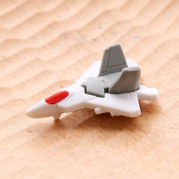 20 stuks Cute Cartoon vliegtuig vorm kleurrijke vliegtuigen rubberen potlood gum School Supplies creatieve briefpapier voor kinderen willekeurige kleur levering