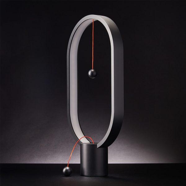 Balance Lamp Oval - Magnetische lamp - Wit licht - Zwart