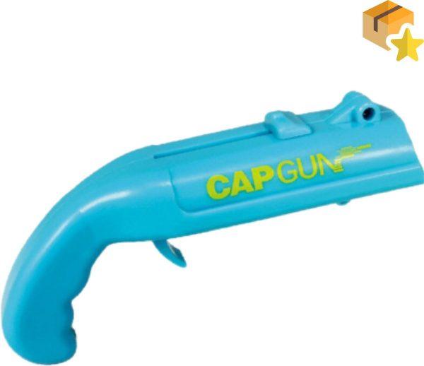 Bierdop Schieter - Cap Gun - Bierfles Opener - Fles Opener - Bieropener - Dopjes pistool - dopjes schieter - Bier Cadeau - Blauw