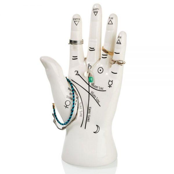 Bitten Hand sieradenhouder - Hand lezen