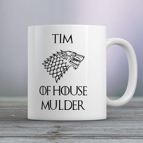 Gepersonaliseerde mok Game of Thrones House of
