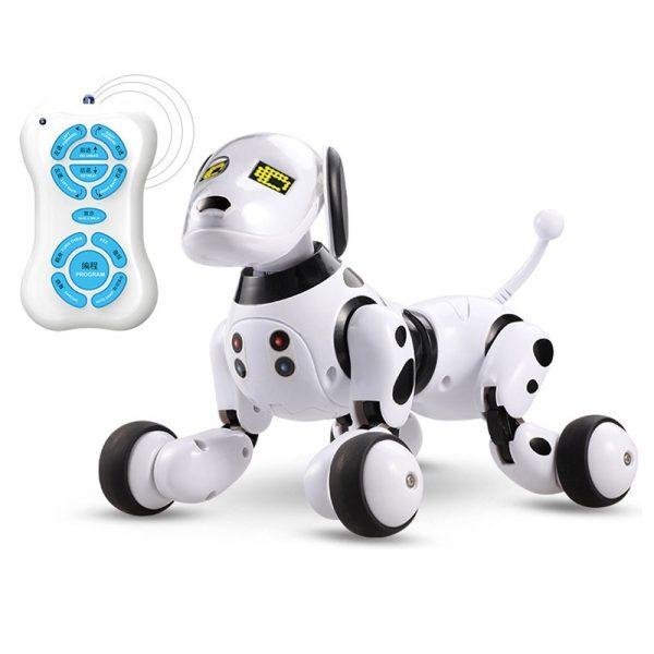 Intelligente Sensing Robot hond huisdier speelgoed vroeg onderwijs voor ouder-kind interactieve (zwart wit)