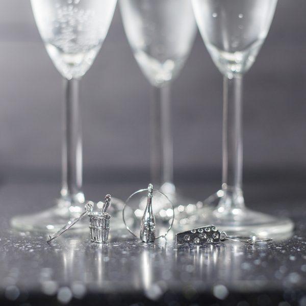 Invotis Wine Charms Glasmarkeerders (set van 6)