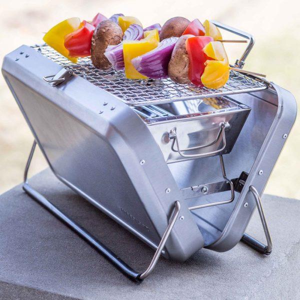 Kikkerland BBQ koffer - Zilver
