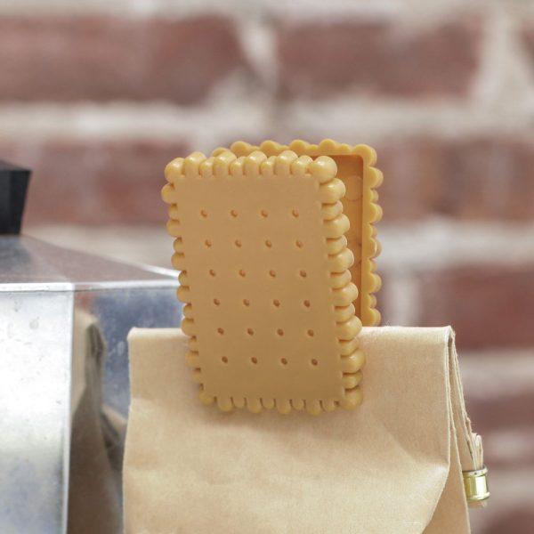 Kikkerland Biscuit bag clip (set van 4)