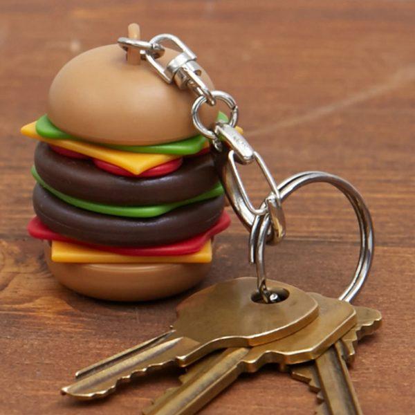 Kikkerland Hamburger sleutelhanger