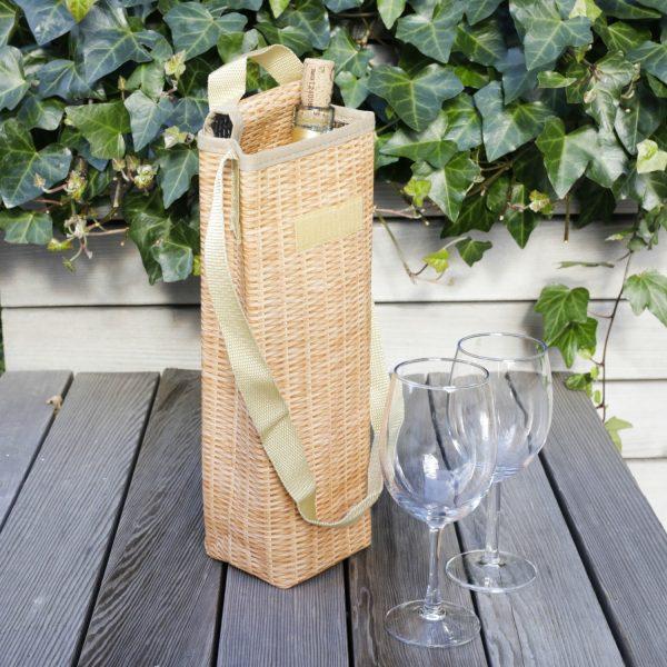 Kikkerland Wicker wijnkoeltas