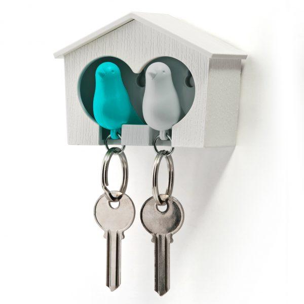 Qualy Sparrow Duo sleutelhanger - Blauw