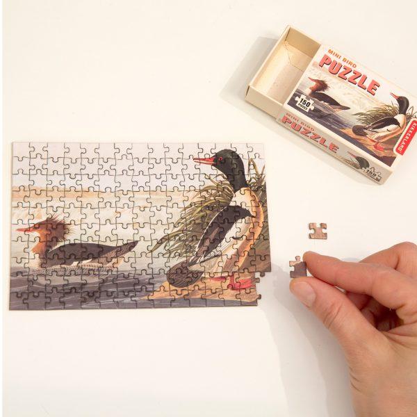 Vogels mini puzzel 150 stukjes van Kikkerland