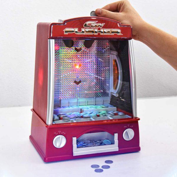 Coin Pusher - Kermis Muntenschuiver - 33 cm - Inclusief licht en geluid