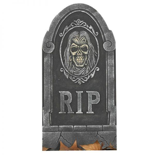 Piepschuim halloween kerkhof grafsteen RIP 65 cm - Feestdecoratievoorwerp