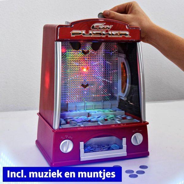 Coin Pusher - Kermis Muntenschuiver - 33 cm - Inclusief licht, geluid en muntjes