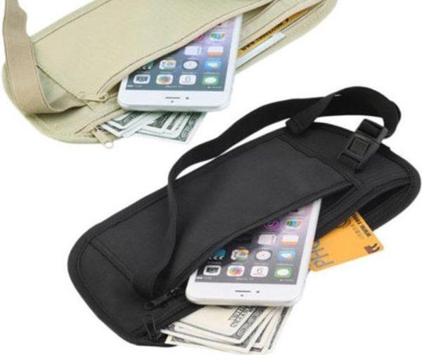 Heuptasje - Geldtasje - Money Belt - Reisportemonnee - Geldriem - Geldbuidel - Paspoorttasje - Buideltasje - Geheim Vakje - Veiligheidstasje - Unisex - Zwart