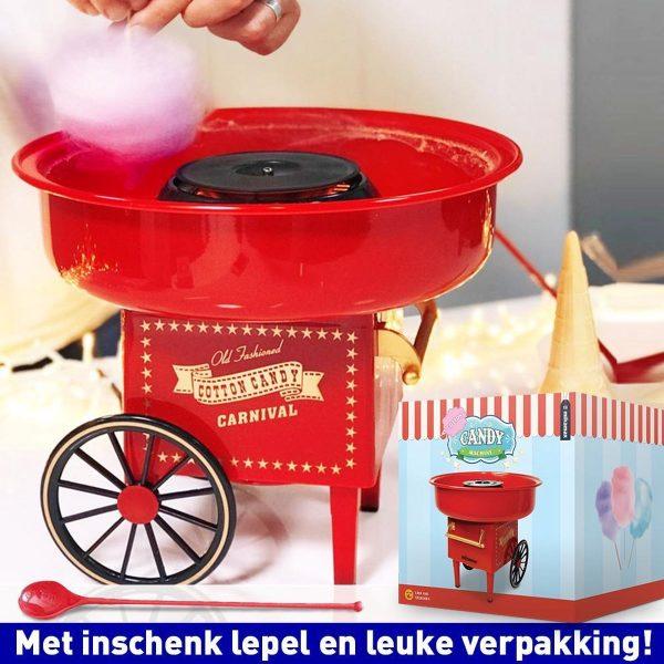 MikaMax - Suikerspinmachine - Suikerspin maker - Cotton Candy Machine - 30cmx30cmx25cm